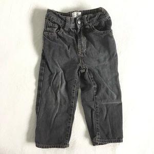 4/25$ 🦋 Black wash denim slim fit jeans for baby